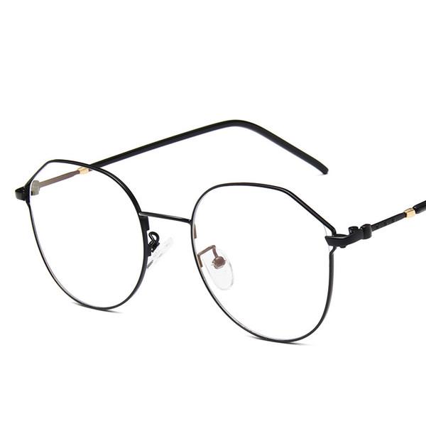 2019 nuovo specchio piatto in metallo versione coreana del trend di occhiali da vista in metallo Personalità uomini e donne occhiali moda.