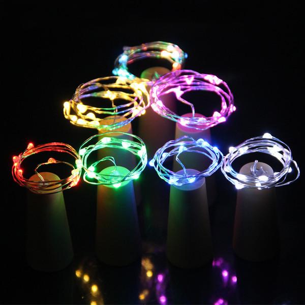 10 Led Solar Weinflaschenverschluss Kupfer Fairy Strip Draht Outdoor Party Dekoration Neuheit Nachtlampe Diy Kork Weinlampe Weihnachten