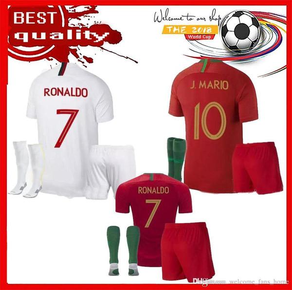 13833140bc 2018 Camisola de futebol adulto kits com meias 2018 Camisolas de futebol  RONALDO ANDRE SILVA GOMES