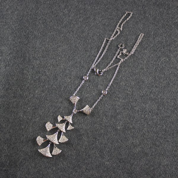 Women skirt pendant Necklace italy designer diamond Sweater Chains Woman Party Charm Necklaces Valentine's Day Gift Jewelry
