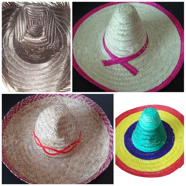 DIY Mexico Protector solar El sombrero de vaquero Sombrero de paja de  verano al aire libre d5f294867dc