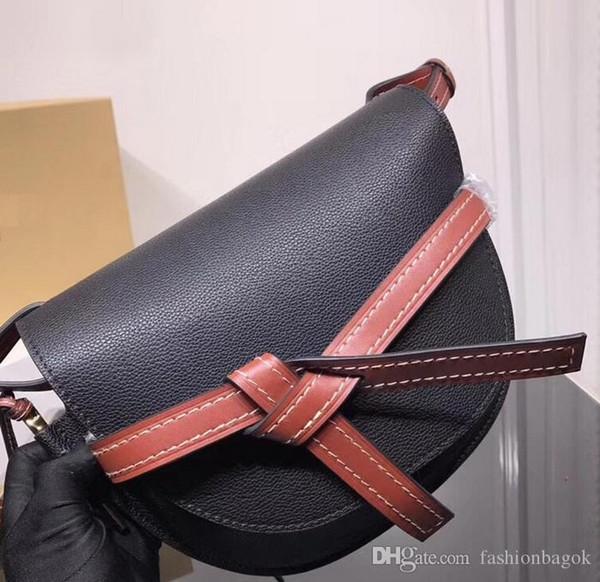 Venta caliente bolso de la puerta del bolso de las señoras de cuero genuino bolsos de mensajero bolsos de las mujeres famosas marcas pequeñas bolsos crossbody debería hombro size20 * 19 * 11.5cm