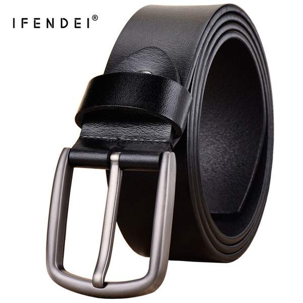 IFENDEI Men's Pin Buckle Leather Belt Retro Wild Men's Leather Belt Waist Band Youth Casual