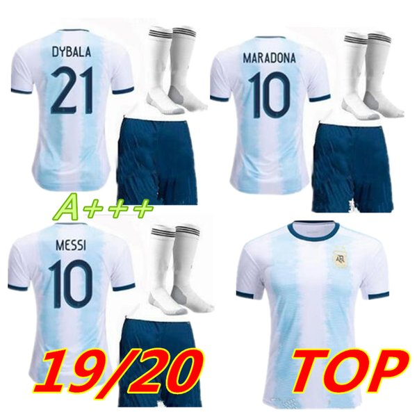 2019 MEN Argentina Gold cup MESSI soccer jersey 19 20 KITS DYBALA Argentina home Away AGUERO DI MARIA HIGUAIN football shirts Free shipping