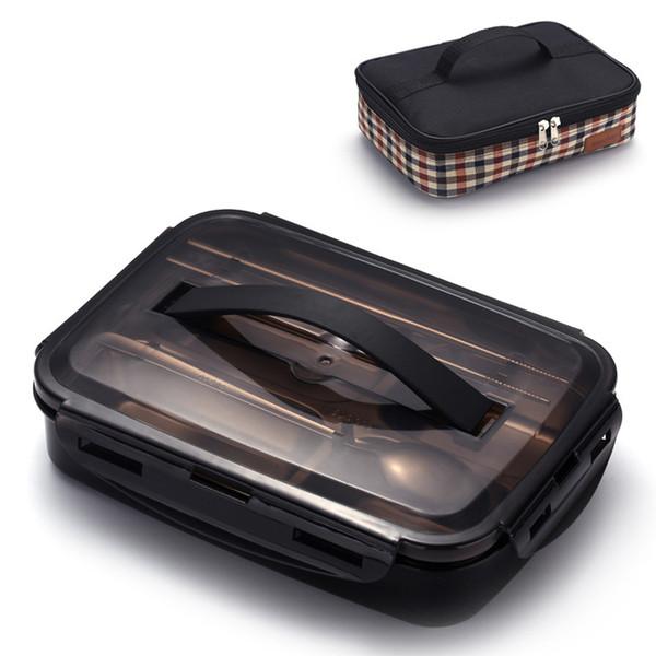 Portable Thermos Contenitore per alimenti 304 In acciaio inox per bambini Studente Scuola Bento Box in metallo a prova di perdite Scatola di pranzo Set C18112301