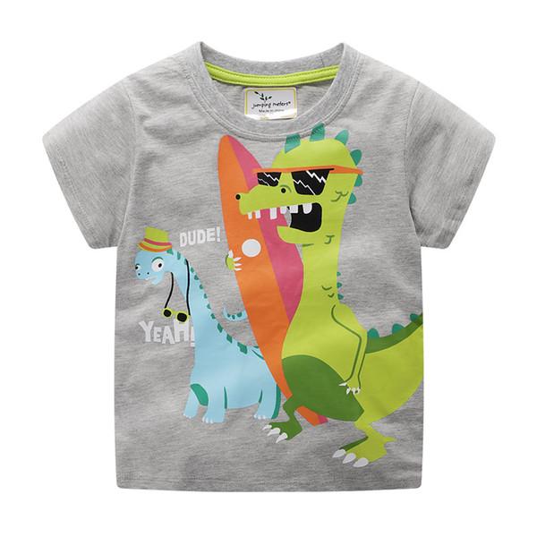 2019 new children's T-shirt printed medium and small children's T-shirt short sleeve cotton round collar short sleeve