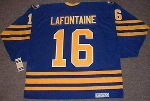 Mens Womens Kids Buffalo Sabres 16 PAT LAFONTAINE 1992 CCM Vintage MN entfernt Custom Any NameNo. Personalisierte Goalit Cut Hockey Trikots