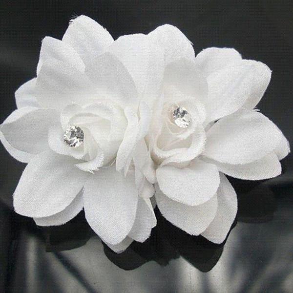 2 pcs New Arrival Summer Style Hair Accessories Flower White Hair Pin Headband Wedding Bridal Hair Accessory news 2016
