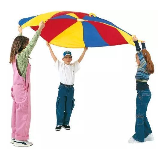 Outdoor Fun Sports Toy Sports BOHS Rainbow Parachute Umbrella Toy Sport Children Kindergarten Outdoor Team Work Game, Diameter : 2 Meters/