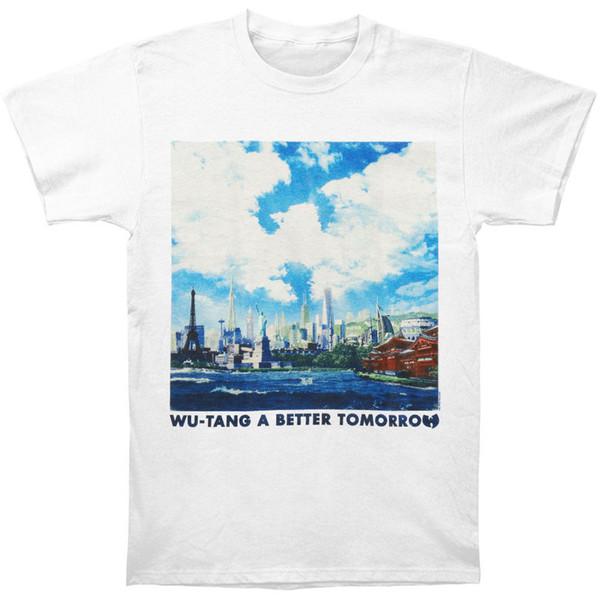 Wu Tang Clan Men's A Better Tomorrow Regular Mens T T-shirt White High Quality Custom Printed Short Sleeve Tops Tee