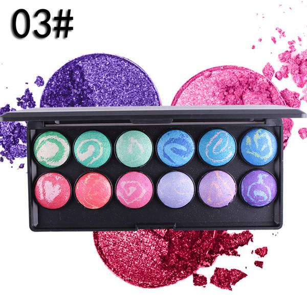 MISS ROSE 12 colores BAKED EYE Shadow Powder Profesional Sombra de ojos Pallete 3D Gran Pigmentado DHL Envío Gratis