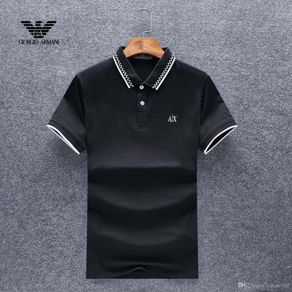 19ss de alta qualidade crocodilo Pólo Camisa Dos Homens de Algodão Sólido Shorts Polo Verão Casual polo homme T-shirts Dos Homens polos Camisas poloshirt