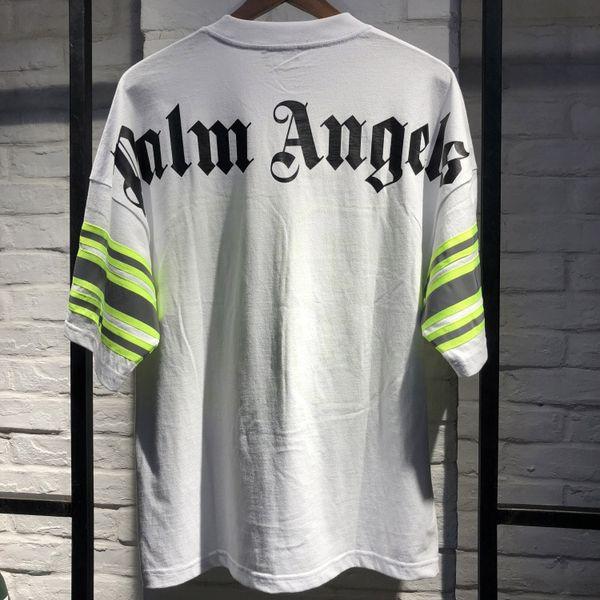 Palm Angels T shirt White Black Letters Print 19 Summer Tees Men Women Oversized PA Tee Shirt Hip Hop Street Tops T-Shirts