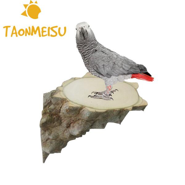 jouets d'oiseaux Conseil Saut Parrot Pied Plate-forme chinchilla écureuil Pepper Connexion Pier Cage à angle droit Conseil Accessoires