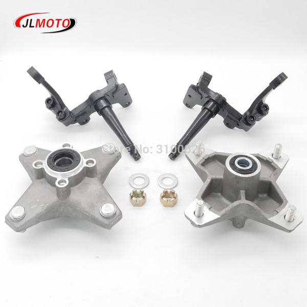 best selling OEM Full Set Left Right Knuckle Spindle With Wheel Hub Fit For Banshee Warrior RAPTOR ATV YFZ YFM 250 350 QUAD BIKE Parts