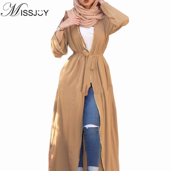 New Abaya Em Dubai Vestido De Veste Muçulmano Burqa Kuftan Vestidos Paquistanês Mulheres Kaftan Marroquino Cardigan Turco Longo roupas Árabes