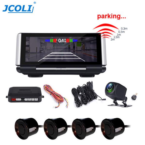 JCOLI 7'' HP Car Rearview Dash Board DVR Recorder Parking Radar Dual Lens Night Vision with Foldable Screen car dvr