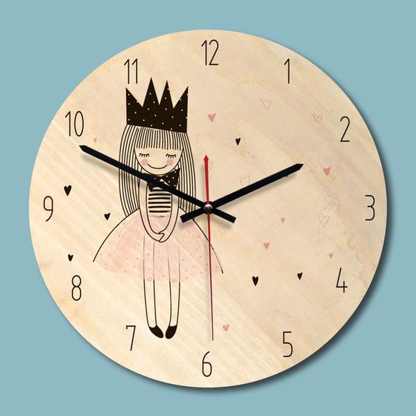 Großhandel Neue Holz Gedruckt Bild Wanduhr Schöne Mädchen Kreative Uhr  Kinderzimmer Umwelt Stille Uhr Dropshipping Von Home5, $19.5 Auf  De.Dhgate.Com ...
