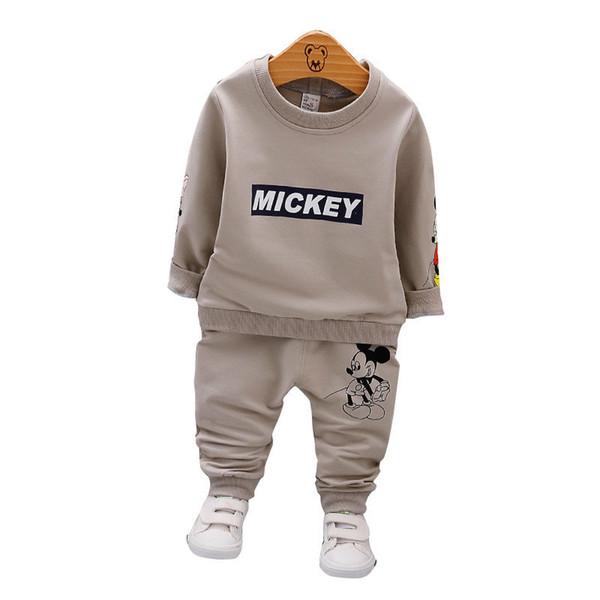 Primavera Autunno Neonato Vestiti per bambini Moda T-Shirt per bambini Pantaloni 2 pezzi / set Bambino Abiti di cotone Abbigliamento per bambini Set Tuta da neonato per bambini