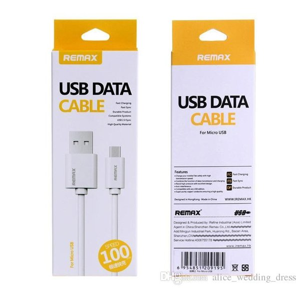 Original Remax Fast Speed Charging Data Sync Micro USB Cable Charger For Android Samsung Galaxy S4 S6 Edge S7 Plus Note 4 5 6 7 HTC Phone