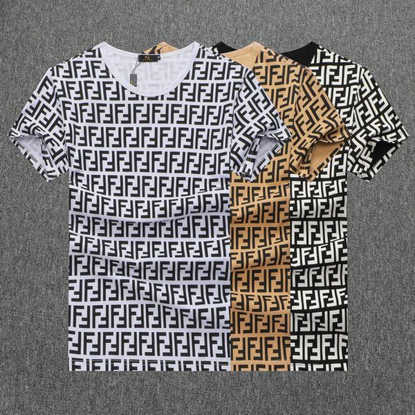 2019 Frühling Sommer Mode Polo Herren Designer Marke T-shirt Gestickter Tiger Wolf Kurzarm T-shirt Männer Jugend T-shirt 124
