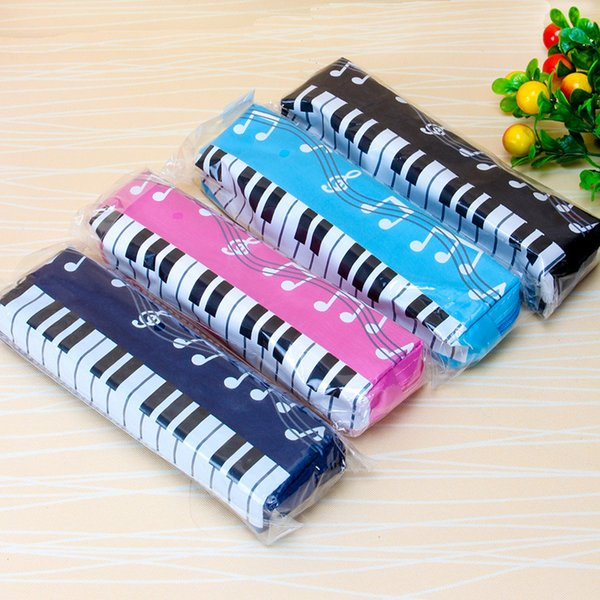 New lovely Musical Piano Keyboard Pencil Case Stationery Office School Supplies Music Pen bag Box Storage Bag School supplies