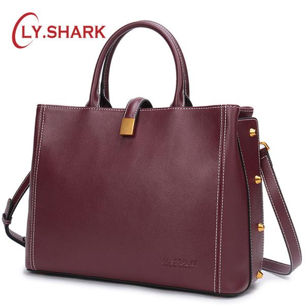 Top-Manche Véritable sac à main en cuir de luxe LY.SHARK Ladies sacs à main Femmes Sacs Designer Crossbody Sacs pour femmes Sac à bandoulière Femme