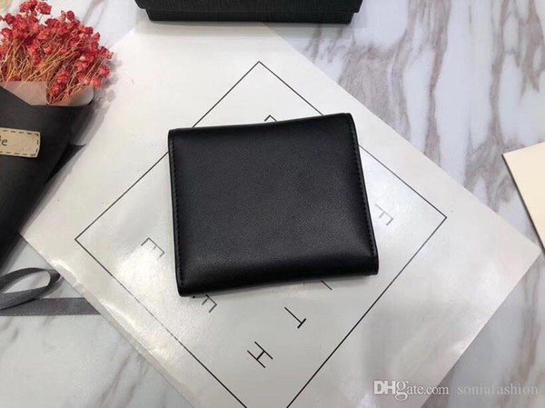 Fashion classic woman wallet made of genuine leather designer lady wallet card holder coin purse woman wallet free shipping