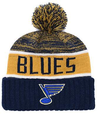 Blues Ice Hockey Wing Knit Beanies Embroidery Adjustable Hat Embroidered Snapback Caps Black Gray White Stitched Hats One Size 00