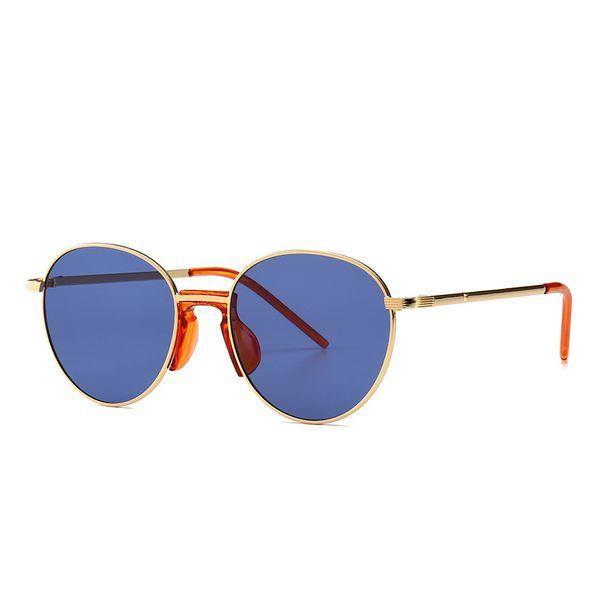 New Fashion Designer moderne Retro-Runde Luxus-Sonnenbrille männliche Frauen Europäische und amerikanische Mode Straße Sonnenbrillen schießen