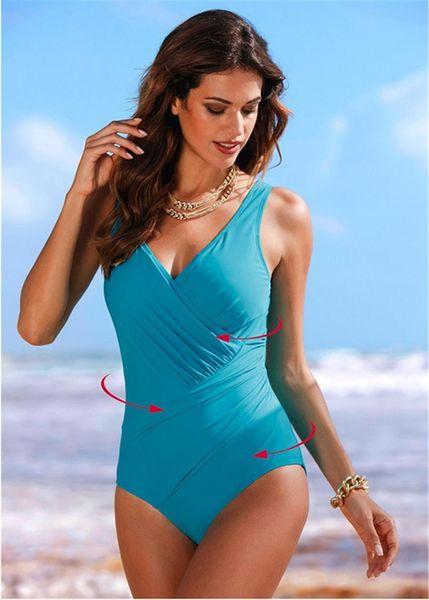 New One Piece Swimsuit Women Plus Size Swimwear Retro Vintage Bathing Suits Beachwear Print Swim Wear Monokini 5XL