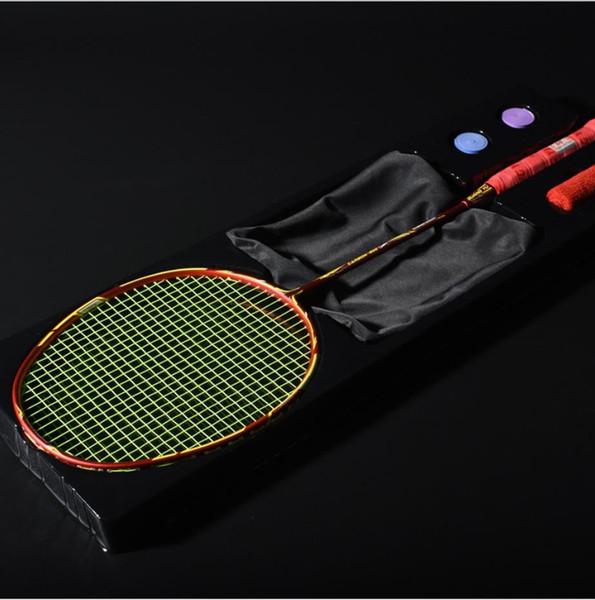 Toptan badminton raketi Orijinal Guang Yu 4U saldırı ve savunma hem oyun eğitim raketi Profesyonel raket tek paketi