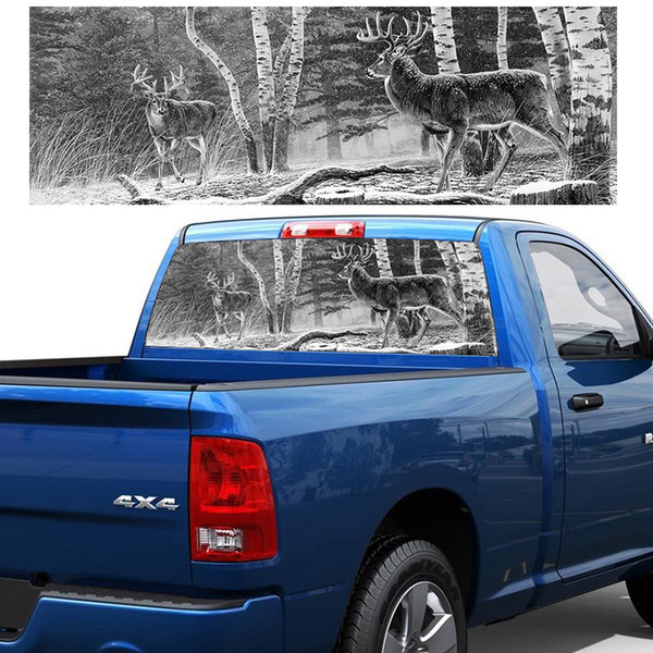 Truck Back Window Decals >> 2019 Forest Hunting Deer Pickup Truck Rear Window Decal Suv Car Sticker From Letong168 20 1 Dhgate Com