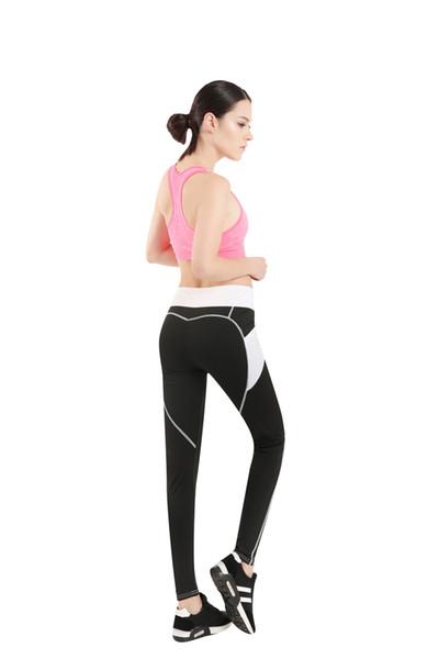 Nouvelle Mode Sexy Fitness Legging Maille Patchwork Athleisure Leggings Mince Pantalon Sport Leggings Élastiques pour Femmes Yoga Leggings Taille S-XL