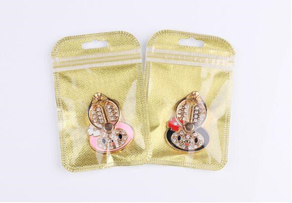 For iPhone X 8 7 6s Samsung S8 Ring Phone Holder Bling Diamond Unique Mix Style Cell Phone Holder Fashion Airbag stand DHL