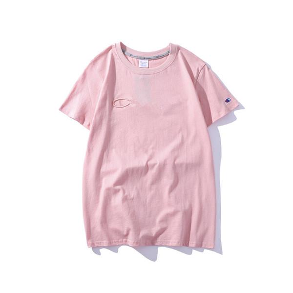 Mode T-shirts pour Femmes Rose Col Rond Lettre Impression Été Casual Tees Designer de vêtements Streetwear Polos à manches courtes