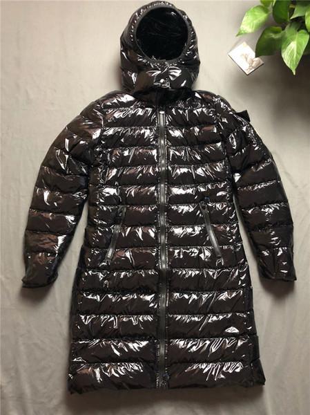 Cappotto di marca delle donne lungo spessore autunno giù giacca di marca invernale con cappuccio per Lady Fashion Style piega abbigliamento donna angosciata
