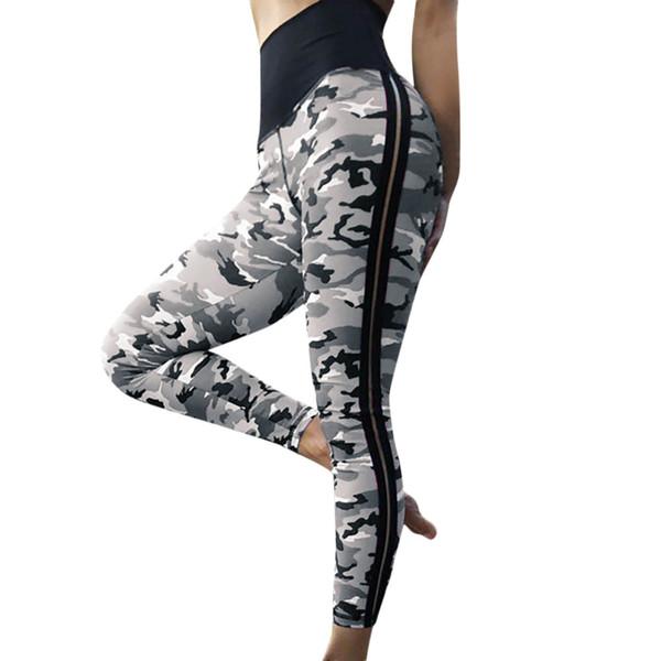 Alta Qualidade Mulheres Leggings Alta Elastic Skinny Camuflagem Legging Primavera Verão Mulheres Emagrecimento Lazer Jegging Calças # F