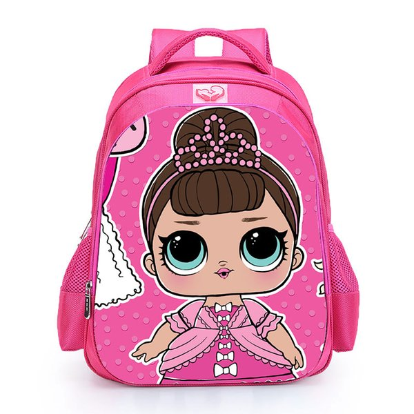 Curel Fancl Children LOL Dolls Baby School Backpack Lovely Pink School Bags for Girls Orthopedic Backpack Kid Student Schoolbag