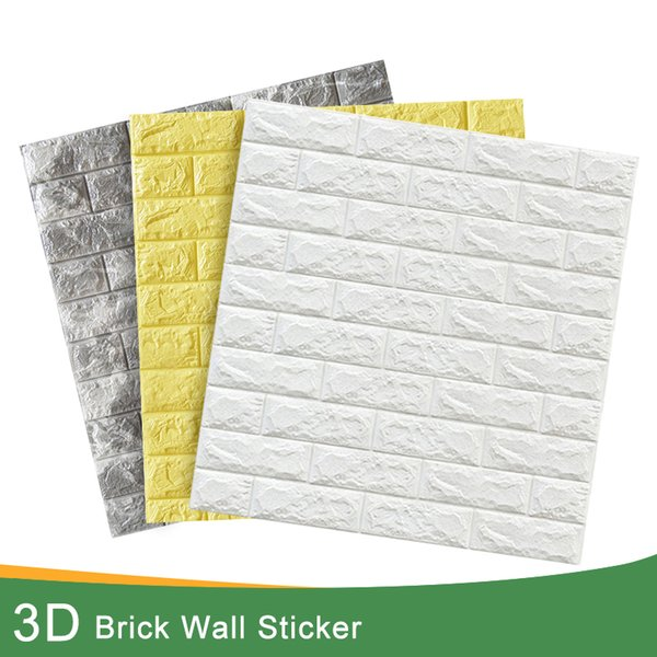 3d наклейки для кирпичной стены декор самоклеящиеся водонепроницаемые обои для детской комнаты спальня 3d стикер для стены кирпич