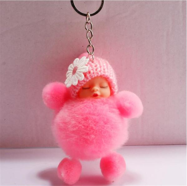 Peluche mignon de bande dessinée porte-clés poupée sac Pendentif Fluffy pendentif accroché pour garçons et filles