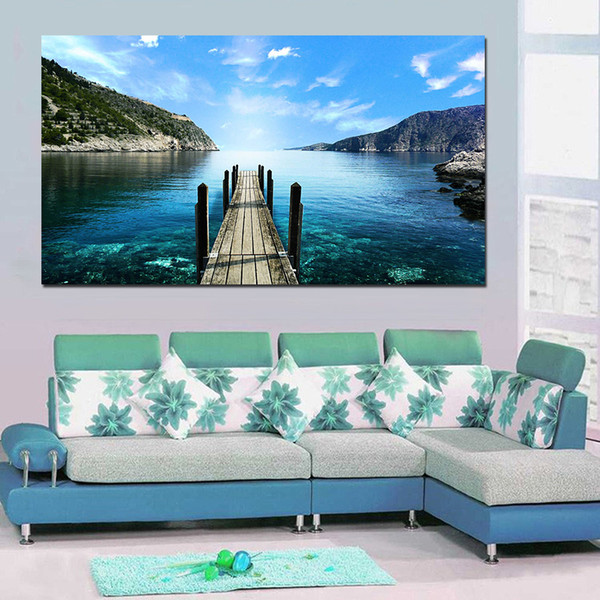 1 Piece Large Size Landscape Painting Wall Pictures For Living Room Canvas Art Home Decor Modern No Frame Painting
