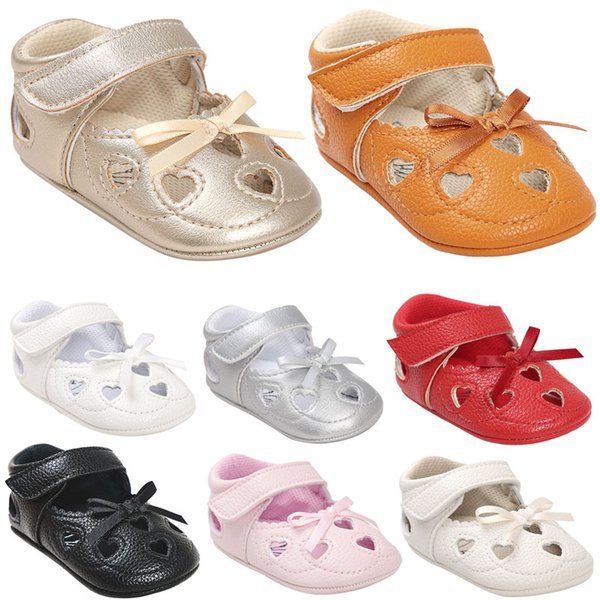 Wholesale Multi-Styles Baby Shoes Non-slip Soles Baby Boy Girl Candy Colored First Walker Infant Fashion Bow Tassel Lovely Toddlers shoes