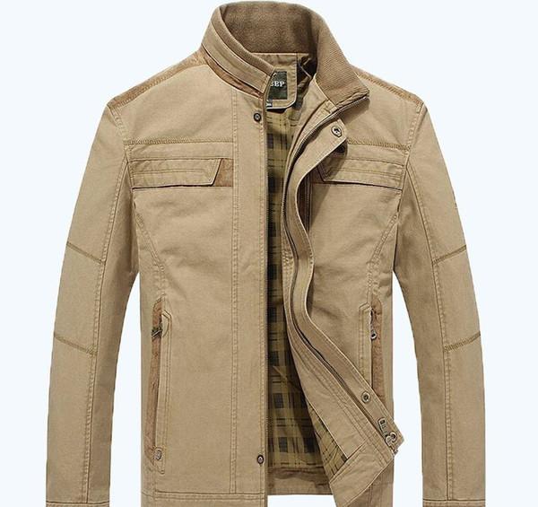 AFS JEEP jacket khaki and army green colors men autumn coat plus size M-3XL jacket menXXLGUCCII