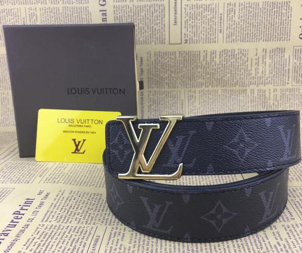 2019 designer ceintures mens ceintures de luxe femmes designer ceinture en cuir business ceintures grande boucle en or expédition avec Box 01