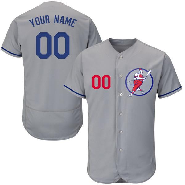 Personalizado Mens Baseball Jerseys Qualquer Nome Qualquer Número Bordado Costurado Camisas Personalizadas Personalizado Barato Loja Online B018