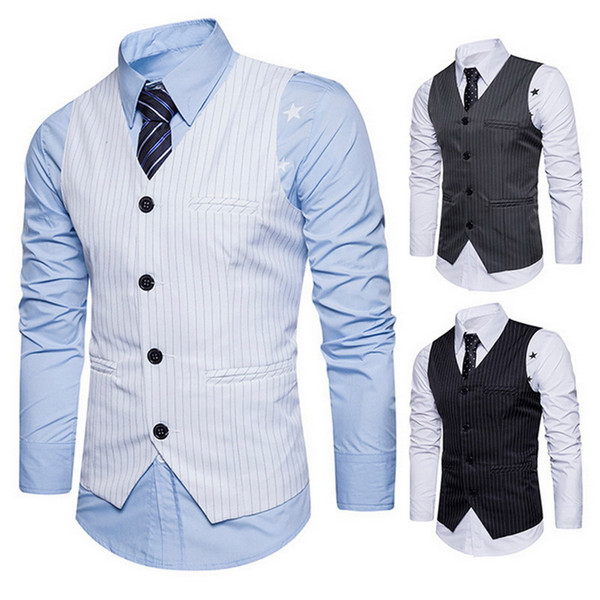 MoneRffi Men Suit Vest Brand Male Waistcoat Classic England Business Wedding Suit Vest Formal Groom Groomsmen Coat Clothes
