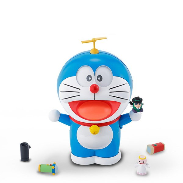 Genuine Doraemon The Robot Spirits Face/eyes-changeable Youtube Fashion Model Kits Anime Action Figure Collection Toys For Kids C19041501