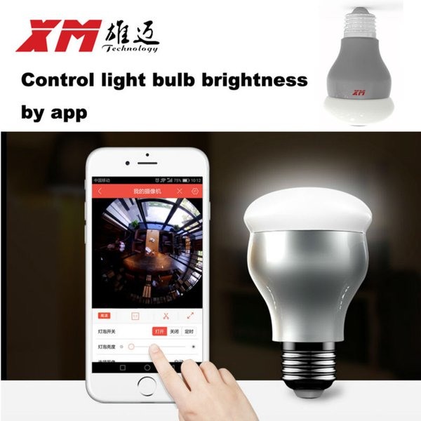 New HD 2MP WiFi IP Camera Panoramic View 360 degree Light Bulb Camera 1080P Smart Home VR 360 Cameras Wireless Built-in Micro SD