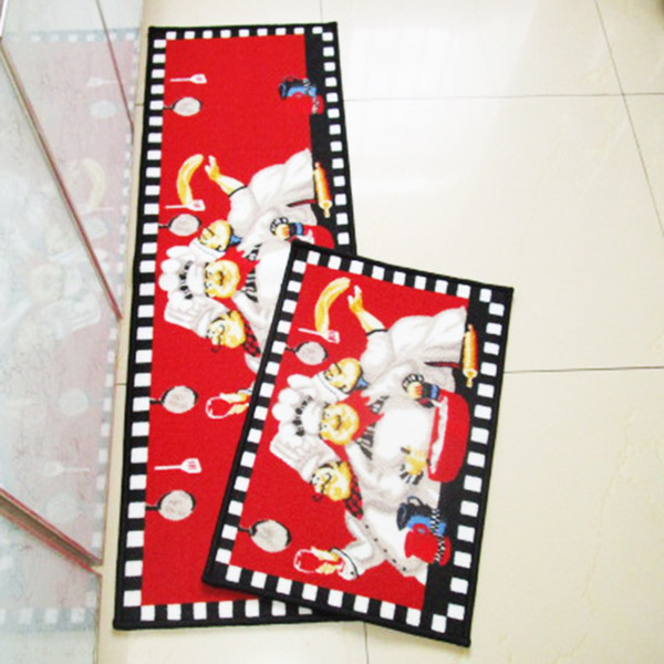 Chef Muster Esszimmer Matte Maschine waschbar Boden Teppich Küchenteppich Bodenmatte Home Decor Rechteck